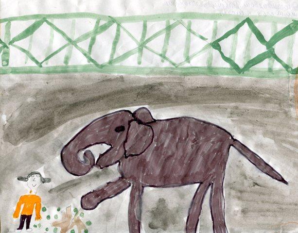 Галерея омских слонов рисунки